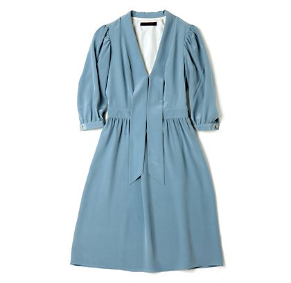 : lovely sky blue dress | Sumally: Heavier Fabrics, Sky Blue, Dusty Blue, Blue Dresses, Dress Fashion, Dresses To Impressions, Simple Style, Spring Blue, Perfect Work