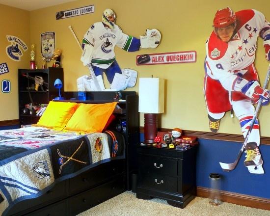 27 best Hockey Bedroom Decorating Ideas images on Pinterest   hockey  themed bedroom. hockey themed bedroom   davidborn info