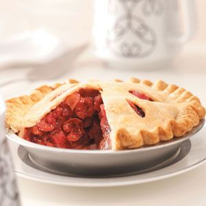 Cherry Rhubarb Pie - this was very good and so easy to put together.  Used two pre-made crusts.