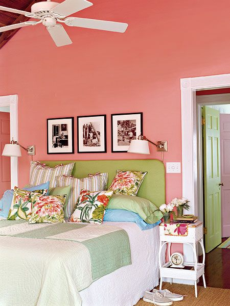 Key West Style | The photographs above the guest bed are of a young Ernest Hemingway, who lived in Key West from 1928 to 1940.