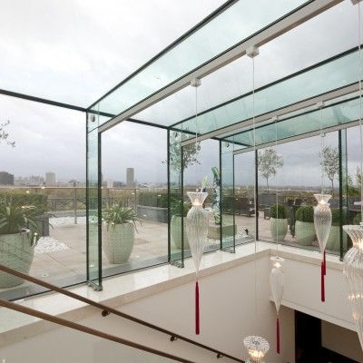 5/8 Example of a Glass Beam Supported Glass Rooflight.