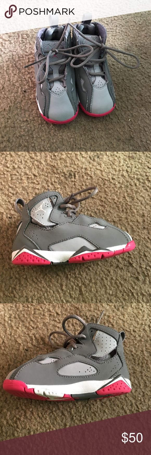Pink gray and white Jordan's. Pink gray and white Jordan's that would put any kid in style.These are brand new. Jordan Shoes Sneakers