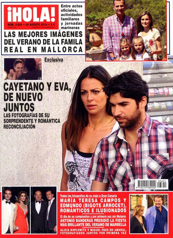 La revista ¡HOLA! publica en exclusiva las fotografías de la sorprendente y romántica reconciliación de Cayetano Rivera y Eva González #covers