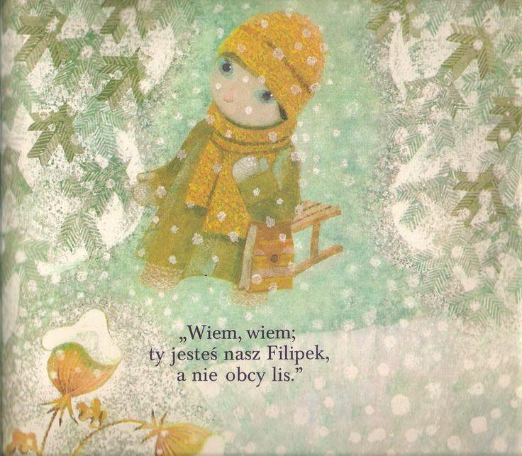 """Ilustracje: Jan Kudláček Autor: Milena Lukešová Tytuł: Śnieżny rumak Wydane: """"Albatros Praha"""", Praga, Czechosłowacja, 1977.  Garaż ilustracji książkowych"""