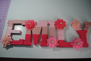 Yarn covered letters with flowers | Owl Always Be Crafting