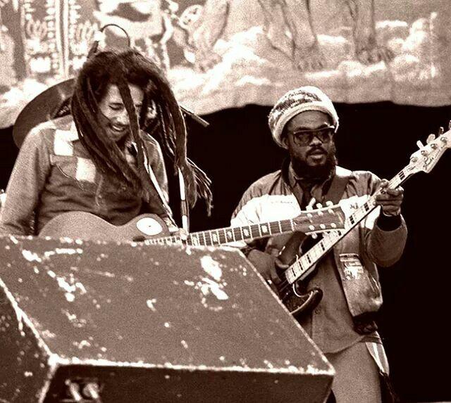 Bob Marley and Aston Barrett.