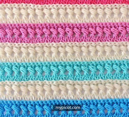 Crochet Textured Puff Stitch Tutorial - (mypicot)