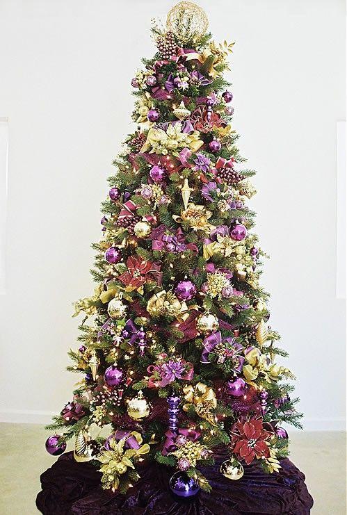 121 besten indoor christmas in purple bilder auf pinterest weihnachtsdekoration. Black Bedroom Furniture Sets. Home Design Ideas