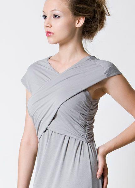 Dote noir nursing maternity maxi dress