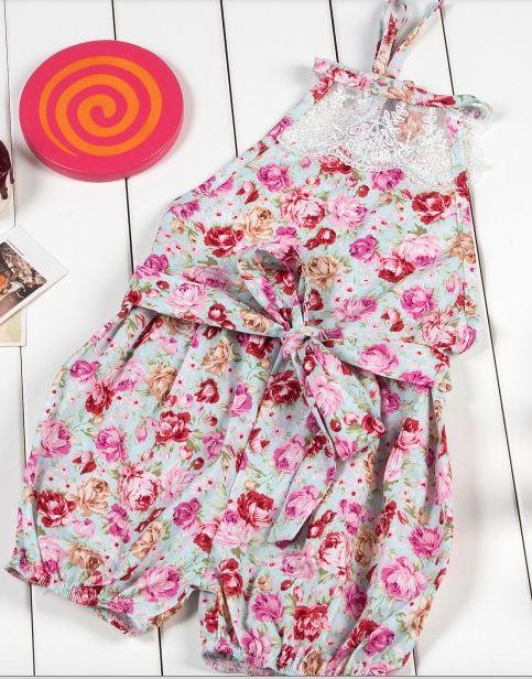 Vintage floral Cotton and Lace Romper Size 7-9 months, 10-12 months $19  https://web.facebook.com/littlecutegirlsfashion/?ref=hl