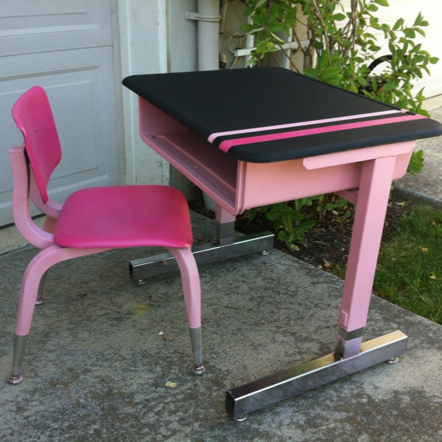 Retro school desk refurbished for Raphaela