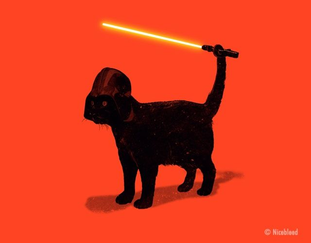 """The funny """"Cat Vader"""" by Philippine studio Nicebleed.Via TheMAG.it"""