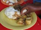 The pap is maize meal porridge, which is usually thick enough to eat with your fingers. It is called Pap in South Africa but goes by different names in different countries (e.g. Sadza in Zimbabwe and Nshima in Zambia). Pap is eaten with everything but most usually with some form of meat.