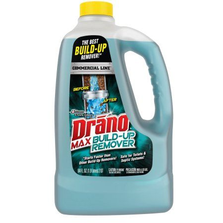 Drano Max Build Up Remover Commercial Line 64 Fl Oz Walmart Com Drain Cleaner Septic System Plumbing Problems