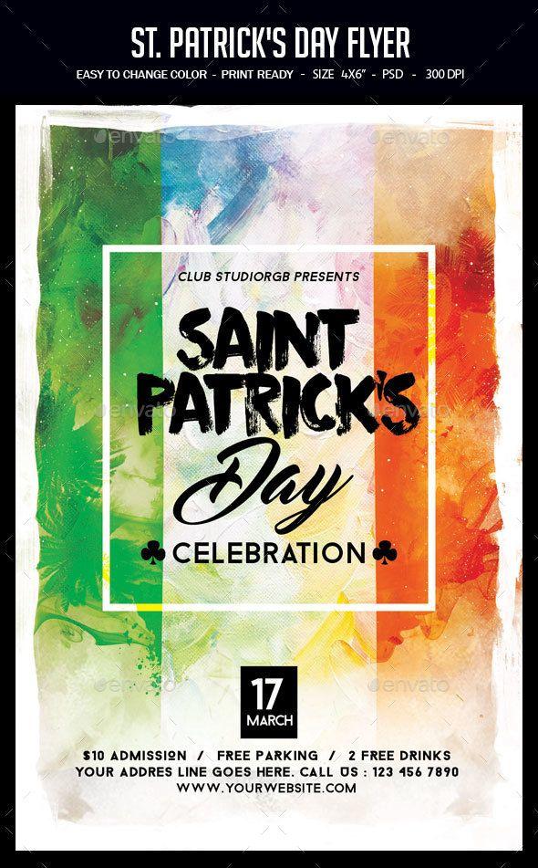 St. Patrick's Day Flyer Template PSD