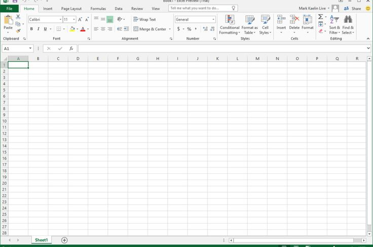 Office Excel 2016 Screenshots