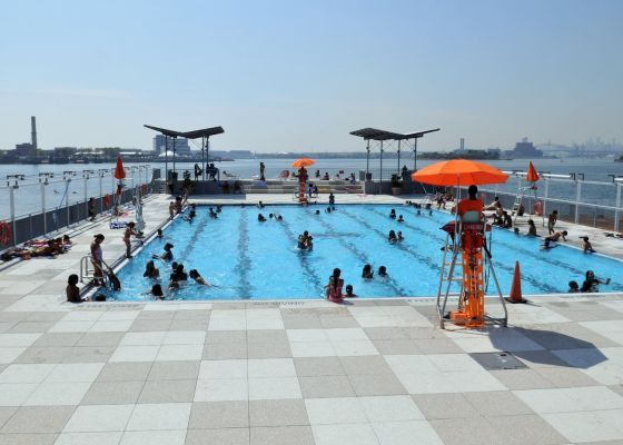 Hanging out poolside is one of the most popular and easiest ways to cool off in the final days of the the city summer. Doggie paddle or get free swimming lessons at any of the New York City Parks' public pools!