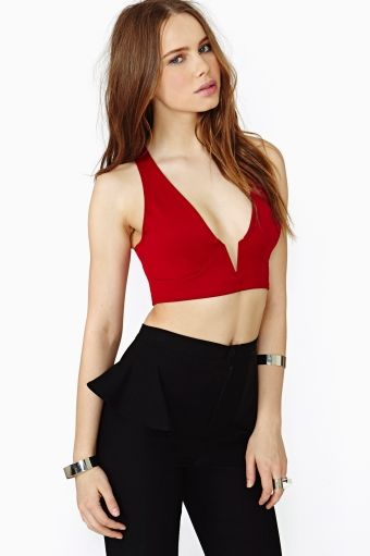 Shop the best range of lace, black & white crop tops around, Nasty Gal.