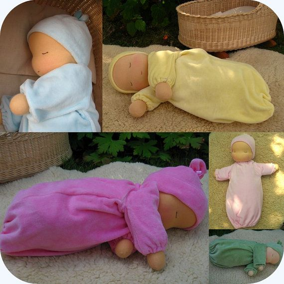 "Waldorf baby doll 14"" , Weighted Heavy Baby Doll, Millet baby, Various colours"