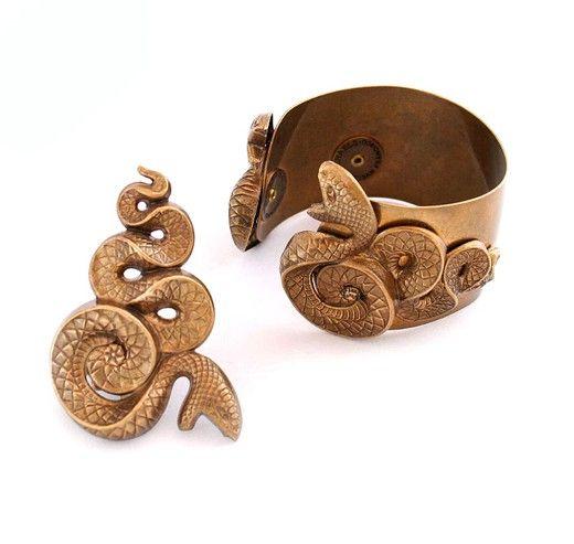 Винтажный браслет и кольцо. Металл. Марка: Jan Michaels, Америка, 1990- е гг. #vintage #jewellery #jewelry #trendy #style #chic #women #gift