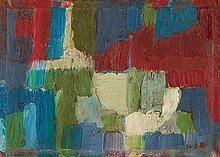 SERGE REZVANI (1928-2005)  COMPOSITION, 1956  Huile sur panneau