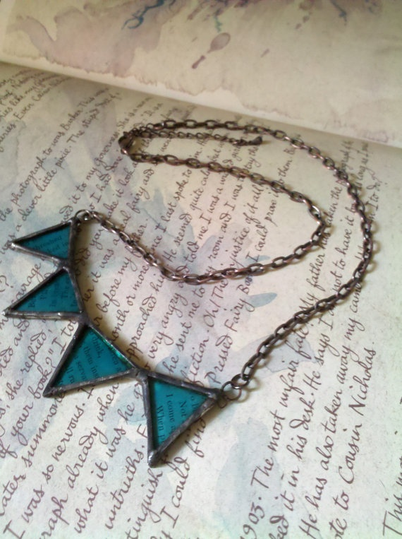 small bunting necklace