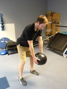 Medicine ball exercises - Medicine ball golf swing - Click here for more exercises : http://www.golf-fitness-and-training-tips.com/medicine-ball-exercises.html