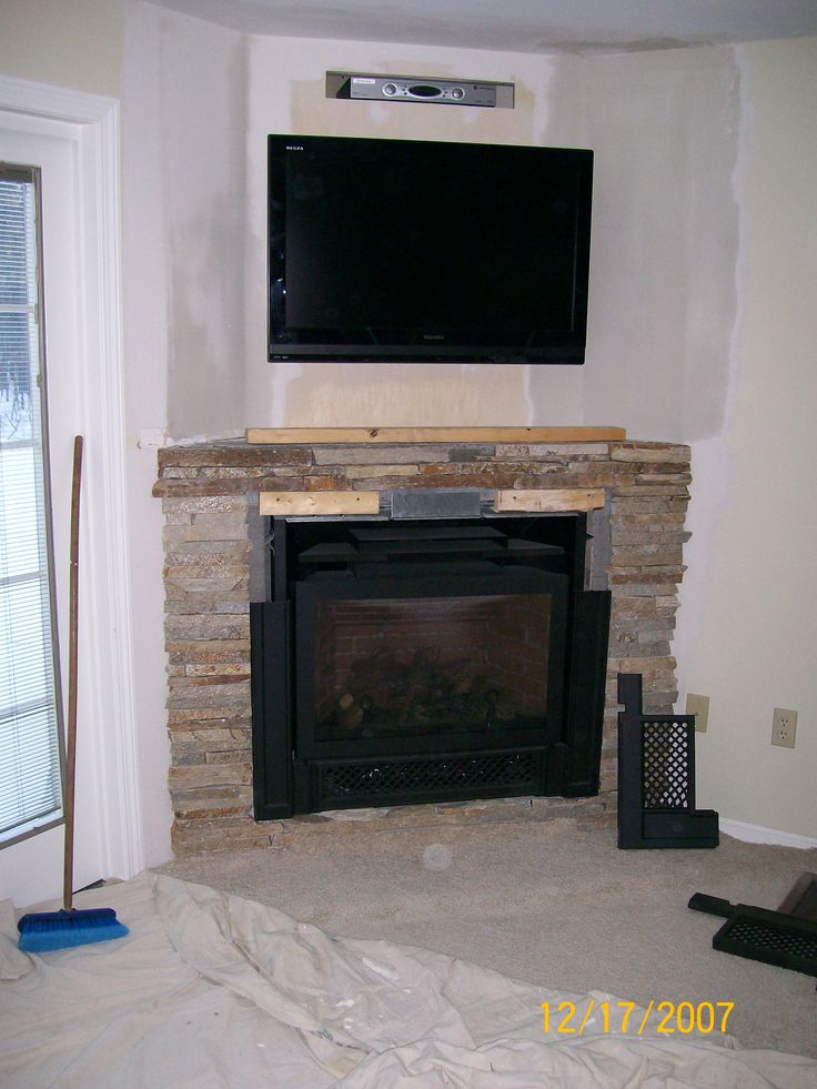 Fireplace Design tv on top of fireplace : The 55 best images about Fire place ideas on Pinterest   Wood ...