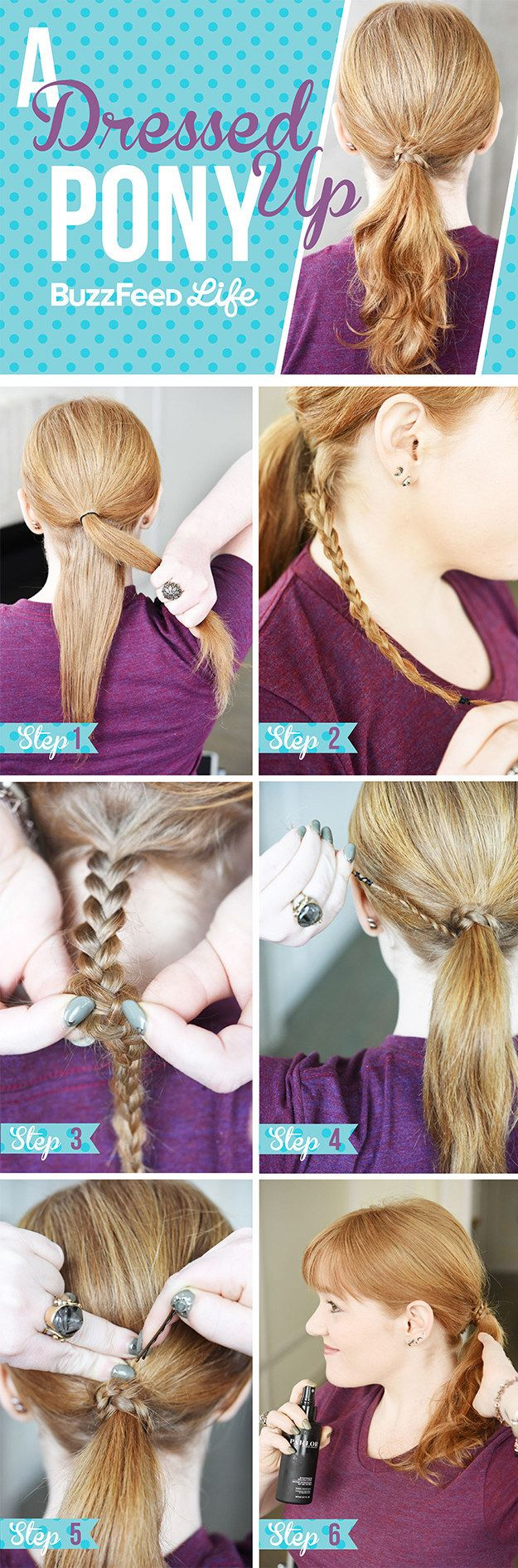 A Dressed-Up Pony | 26 Incredible Hairstyles You Can Learn In 10 Steps Or Less