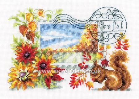 Buy Autumn Stamp Cross Stitch Kit online at sewandso.co.uk