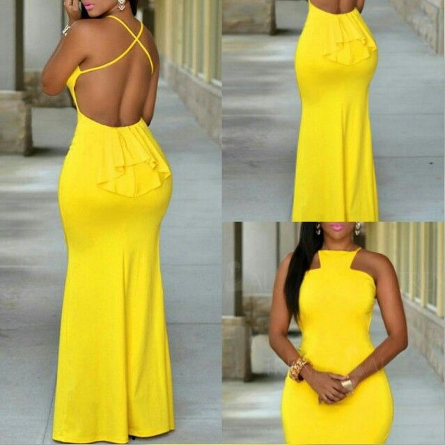 Stock your closet with Sexy Girl Fashions❤Backless Maxi Dress $19.95❤ Search New Arrivals ⭐www.SexyGirlFashions803.com⭐