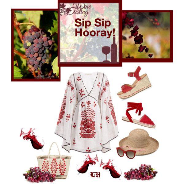 Girls Trip: Wine Tasting! by lheijl on Polyvore featuring Vita Kin, Lucky Brand, Attico, Star Mela, Tommy Hilfiger, girlstrip and WineTastingOutfit