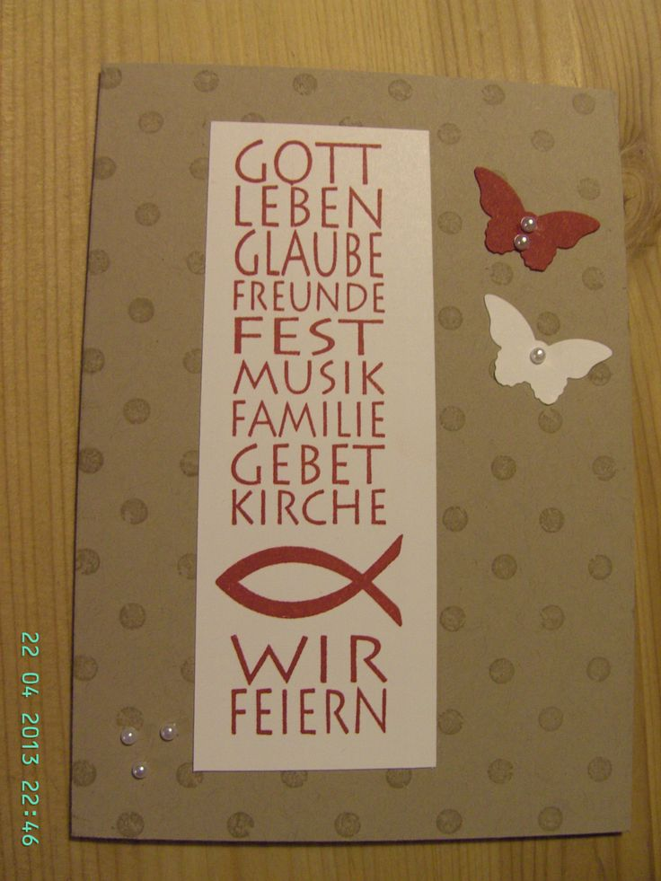 Mirjams- Stempelecke, Einladung, Stampin Up, Konfirmation, Kommunion, Karte
