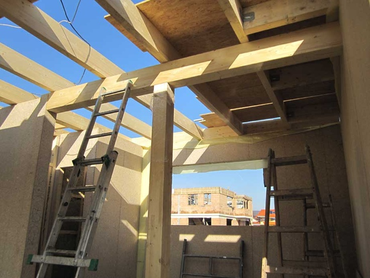 construction progress of low energy house litchi