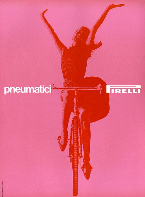 Massimo Vignelli _ Pneumatici Pirelli, 1963, advertisement for Pirelly tyres (MoMA Collection)