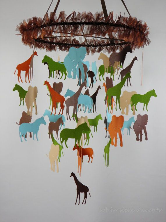Going on A Safari Baby Mobile  Extra Large by whimsicalaccents, $85.00