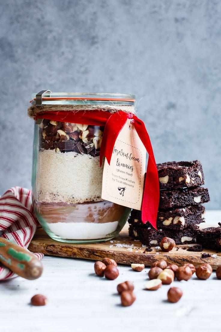 Gluten-Free Hazelnut Dark Chocolate Brownie Mix in a Jar