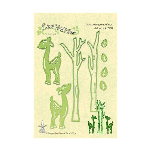 Leane Creatief Cutting Dies - Deer & Trees 458930