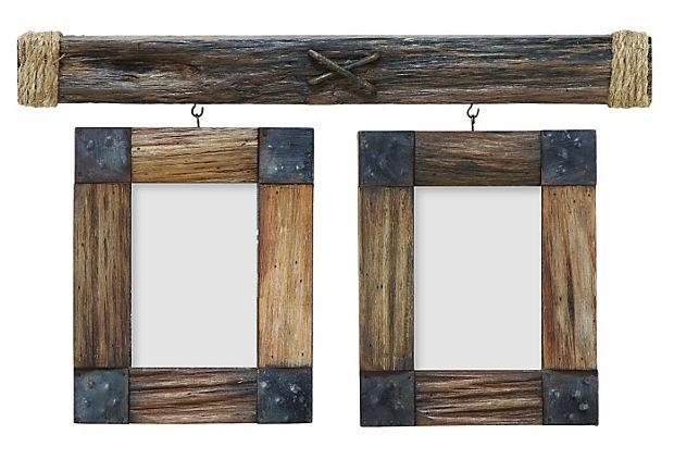 Hanging Rustic Frames on Rustic frames