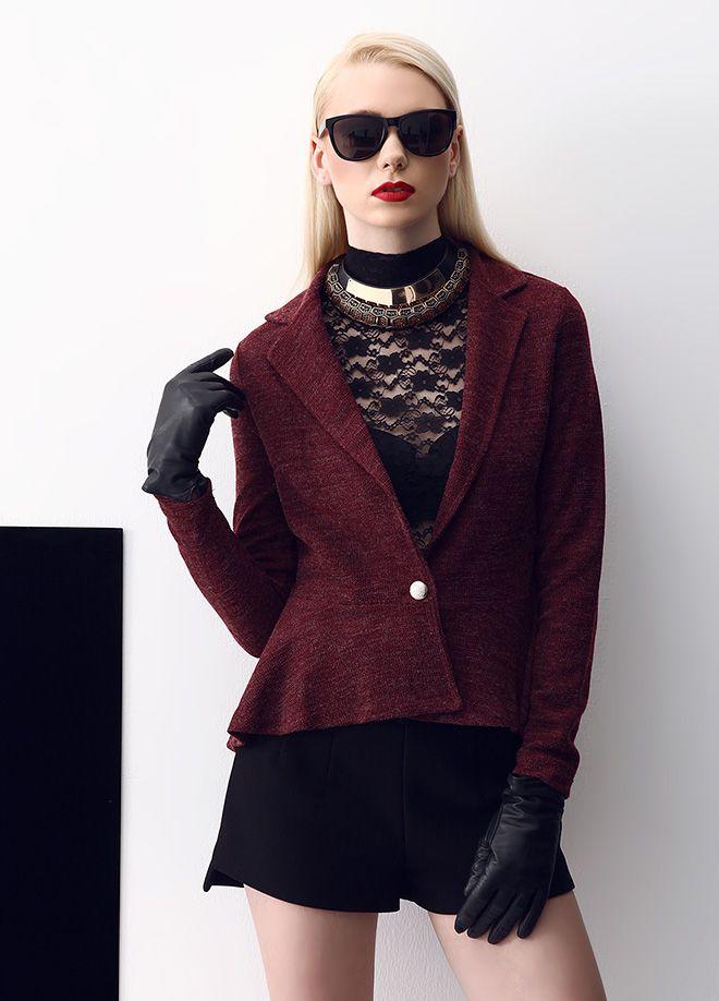 Stil Aşkı: Kırmızılı Siyahlı Ceket Markafoni'de 135,00 TL yerine 44,99 TL! Satın almak için: http://www.markafoni.com/product/5505458/ #ceket #moda #jacket #girl #fashion #red #black
