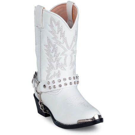 Sparkly Cowboy Boots for Women | White Rhinestone , BT561 - Durango Boots - Durango Boot Company