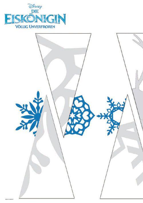 Die Eiskönigin - Papierschneeflocken Vorlage
