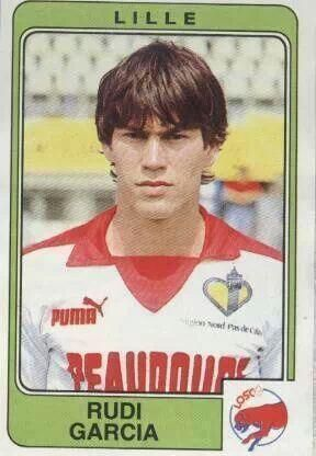 Rudi Garcia while playing for Lille