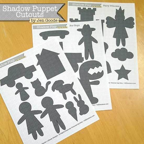 Free Shadow Puppet Printable Play Sets