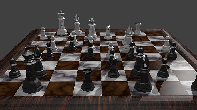 holographic battle chess set | Final chess set render - S04 ChessSet - GameDev.tv