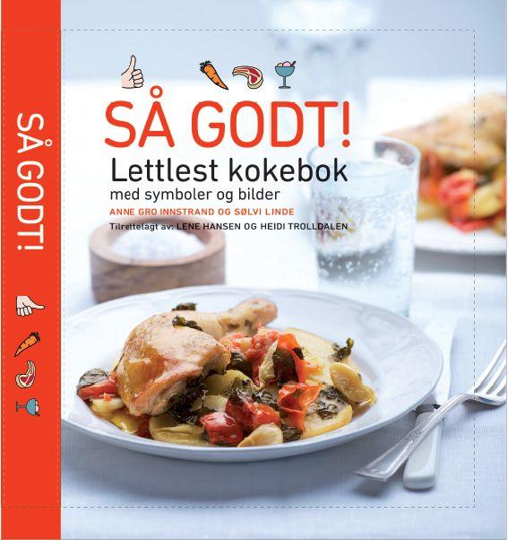 Lettlest kokebok med bilder og symboler. Denne boka er spesiallaget for mennesker som bruker alternativ og supplerende kommunikasjon.