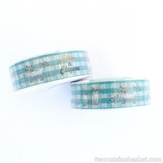 Washi Tape Chignon - TWO CATS IN A BASKET