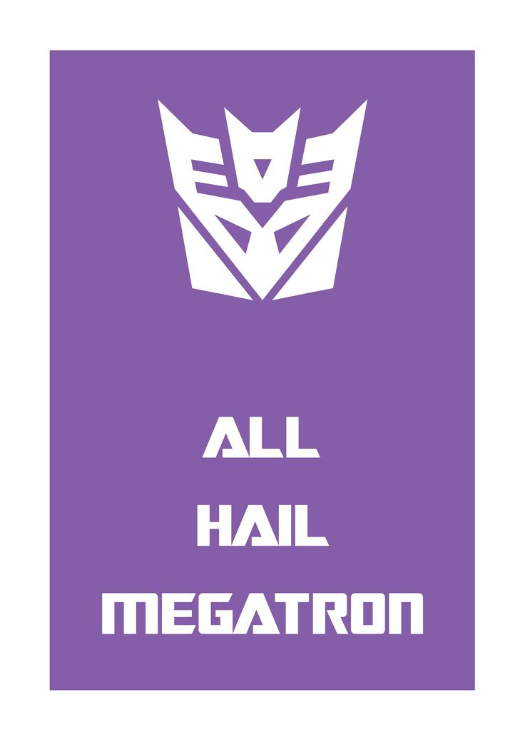 """I would like a Deceptacon and Autobot shirt for the bf and I! - the """"All Hail Megatron"""" isn't necessary"""