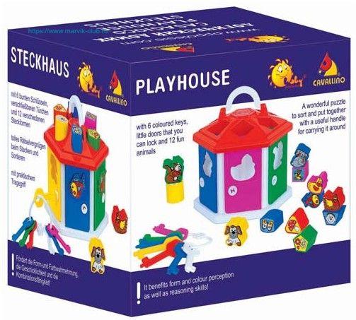 Очень занимательный и захватывающий развивающий набор Логический домик с геометрическими фигурками-кубиками. Ребенок познакомится с некоторыми представителями животного и растительного мира, научится узнавать и классифицировать цвета и формы, а обучение превратится в увлекательную и захватывающую игру. У каждой зверушки своя дверка с подходящим ключиком по цвету и форме.  В комплекте: сортер-теремок; 7 ключиков на кольце; 12 фигурок-кубиков.  Фигурки крупные и удобные для детских пальчиков…