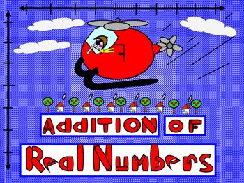 Positive and Negative numbers are added using both the vertical and horizontal number lines; the rules of addition in algebra are introduced, as well, and students apply these rules to calculations. Properties (Closure for addition, commutative, associative, Identity, and inverse) are presented with a discussion as to how these properties relate to operations of addition.